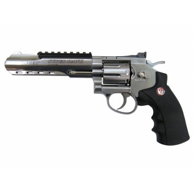 Airsoft Revolver Ruger SuperHawk nikl CO2