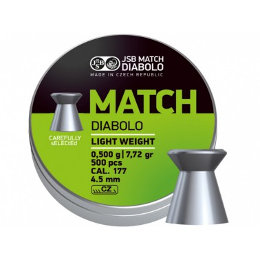 Diabolo JSB Match pistole 500ks cal.4,49mm